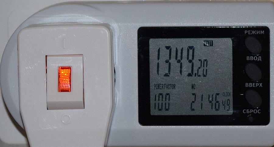 Энергопотребление Antminer S9